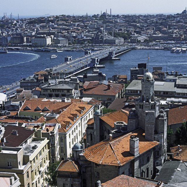 """Istanbul from Galata Tower"" stock image"