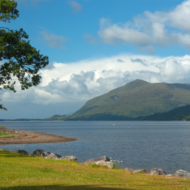 """Loch Linnhe, Fort William"" stock image"