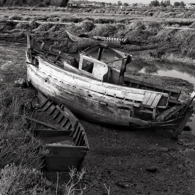 """Lost Boat"" stock image"