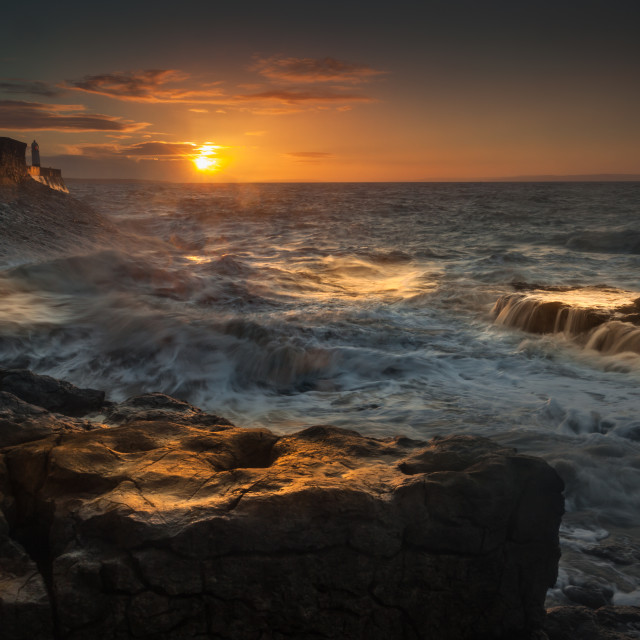 """Porthcawl sunrise"" stock image"