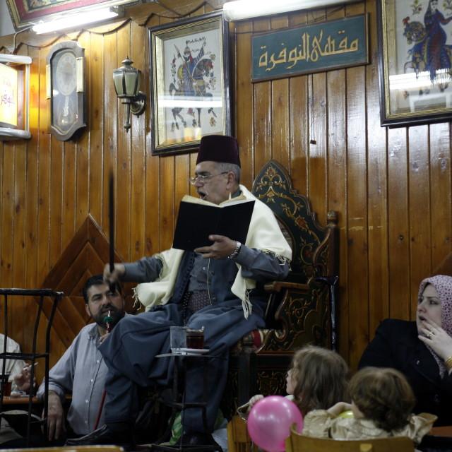 """""""MIDDLE EAST SYRIA DAMASKUS STORYTELLER"""" stock image"""