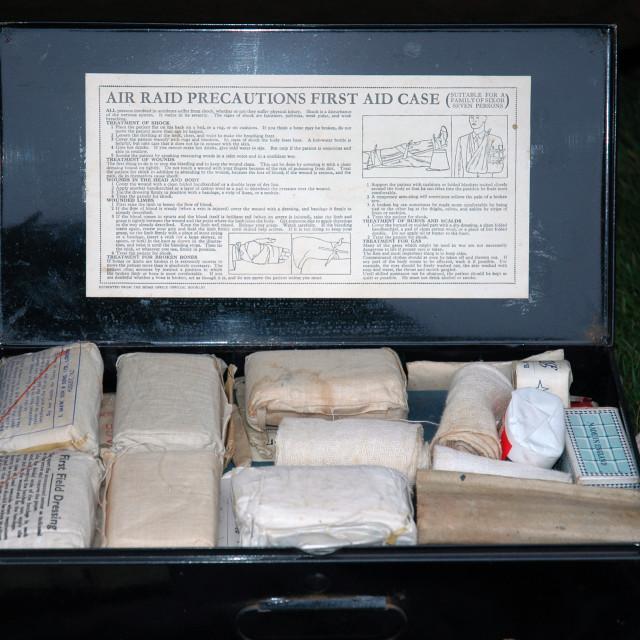 """World War 2 First Aid Box"" stock image"