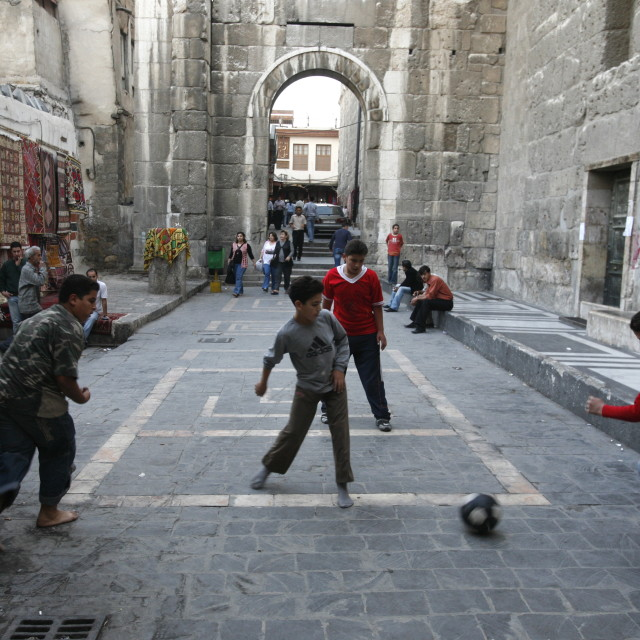 """MIDDLE EAST SYRIA DAMASKUS SOCCER FOOTBALL"" stock image"