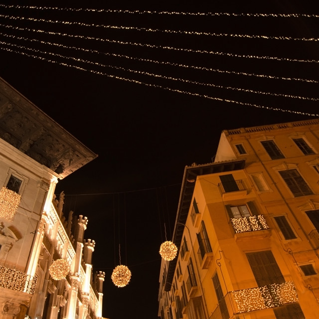 """Christmas lights in Palma"" stock image"