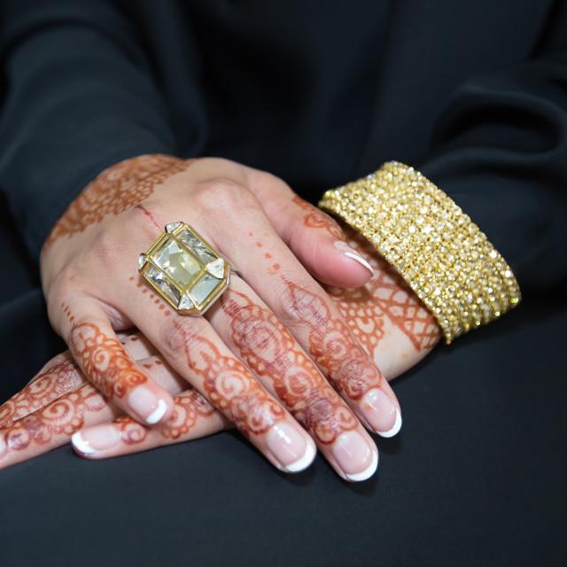 """""""Bride mehndi ring"""" stock image"""