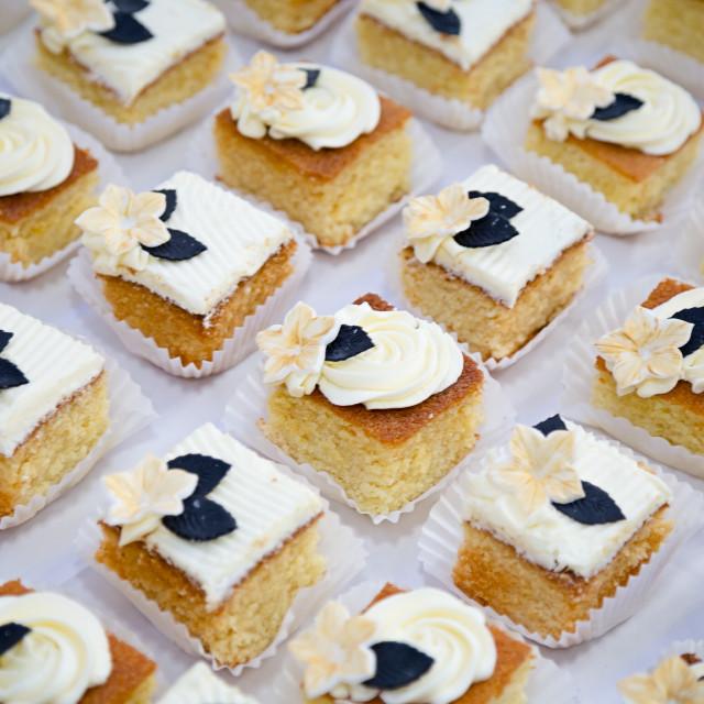 """Mini cakes"" stock image"