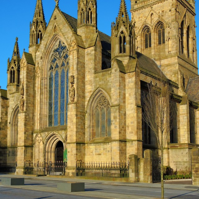 """""""Salford Cathedral."""" stock image"""