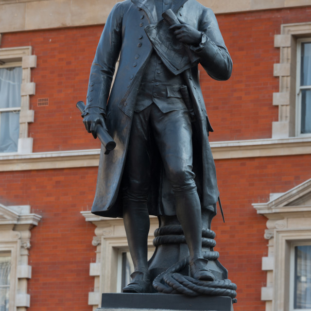 """Captain James Cook Statue"" stock image"