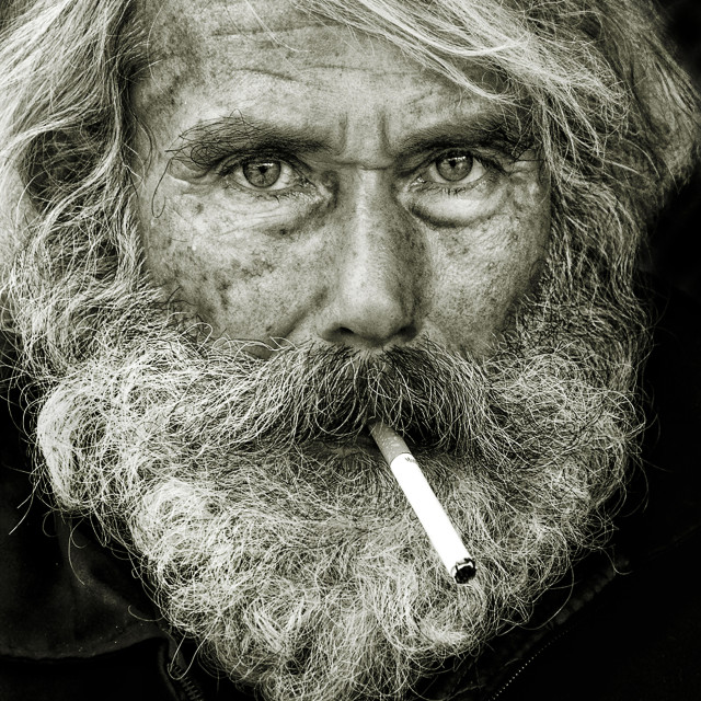 """""""Portrait of a fisherman"""" stock image"""