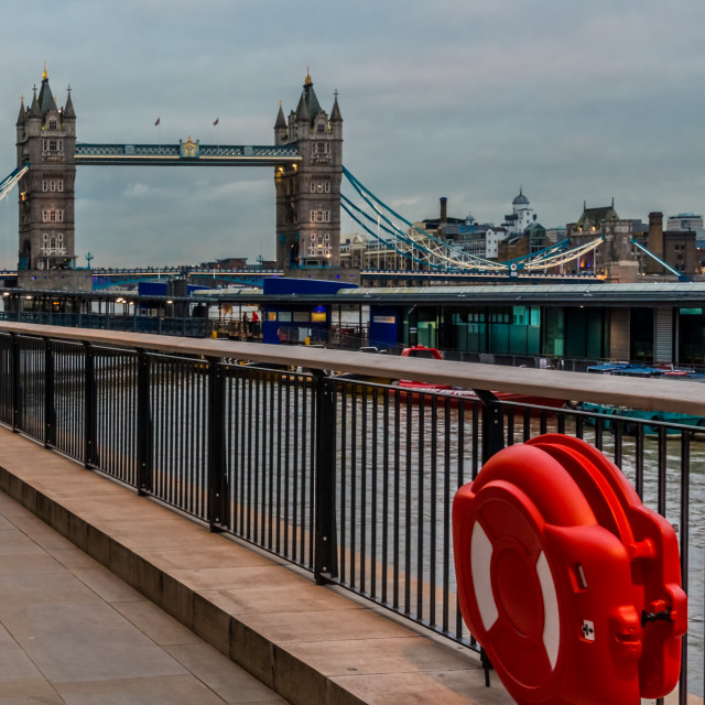 """""""I can see Tower bridge"""" stock image"""