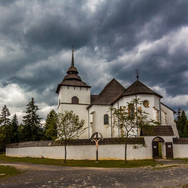 """""""Church in Liptov"""" stock image"""