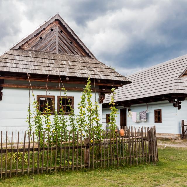 """""""Wooden houses Liptov"""" stock image"""