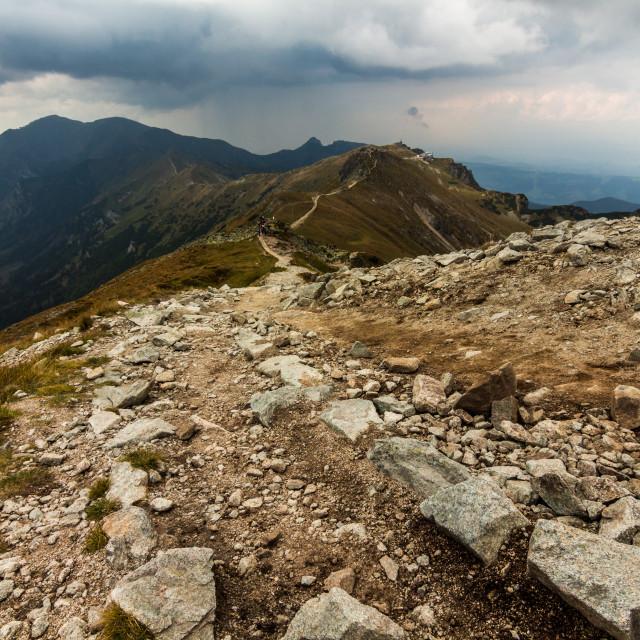 """Rocky trail"" stock image"