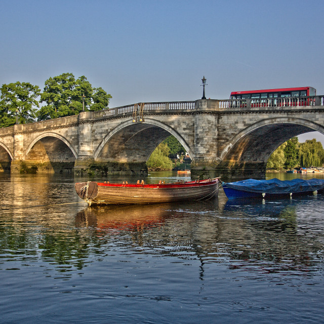 """Arches of Richmond Bridge"" stock image"