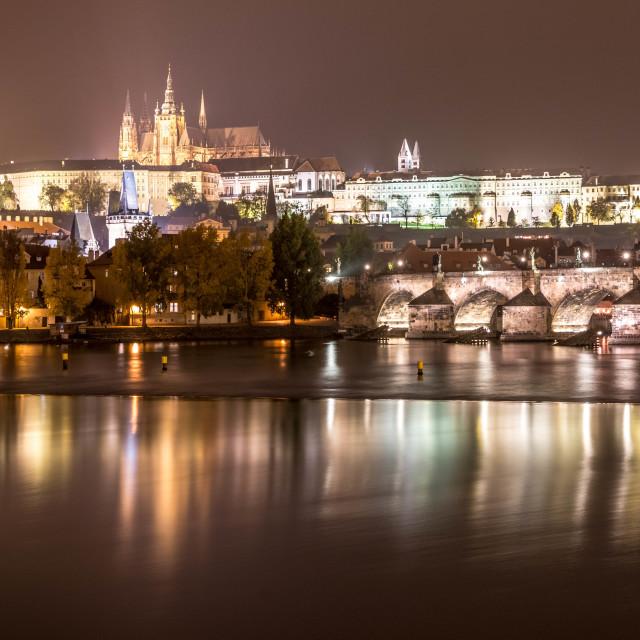 """""""Prague by night"""" stock image"""