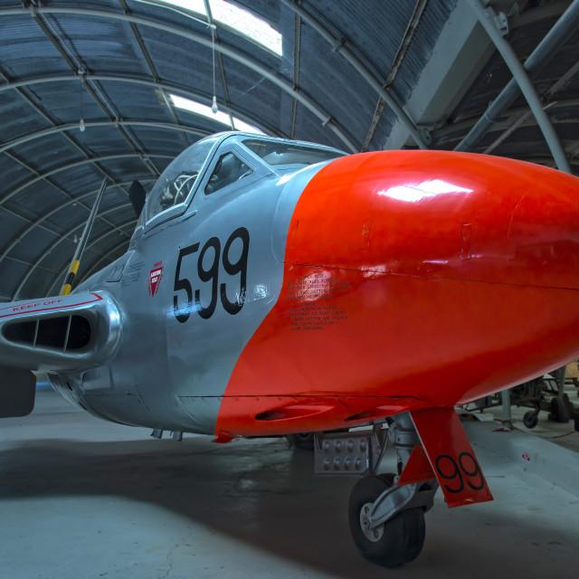 """de Havilland Vampire T.11"" stock image"