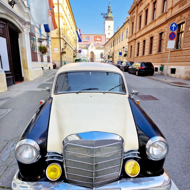 """Zagreb historic upper town street"" stock image"