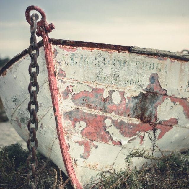 """Old rowboat"" stock image"