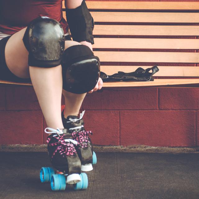 """""""Roller Girl"""" stock image"""