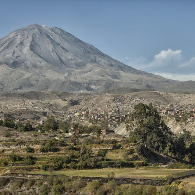 """Misti Volcano at Arequipa, Peru"" stock image"