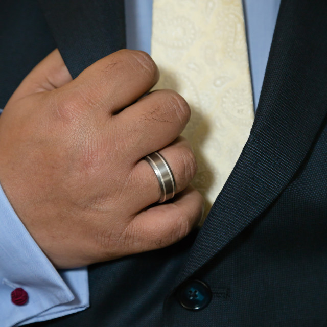 """Groom lapel"" stock image"