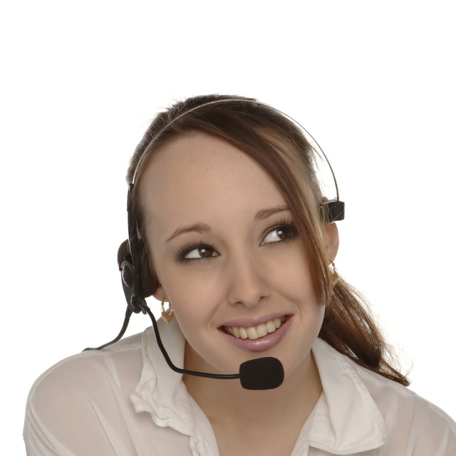 """Customer Services Operator 2"" stock image"