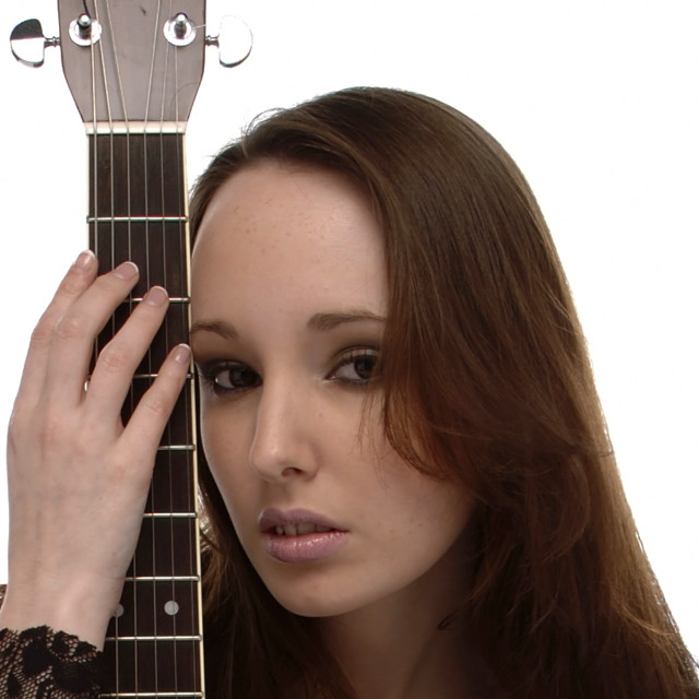 """Woman with Guitar"" stock image"