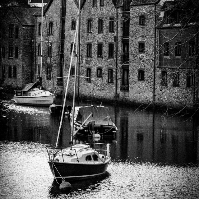 """""""Yacht in Canal"""" stock image"""