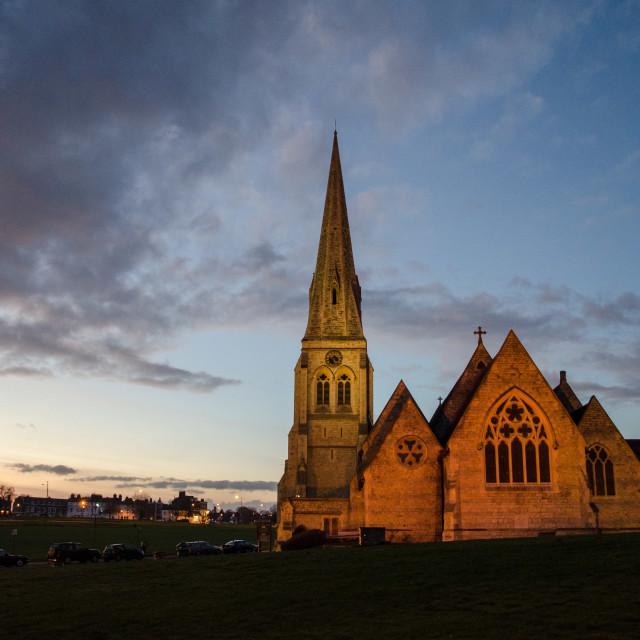 """All Saints Church, Blackheath"" stock image"