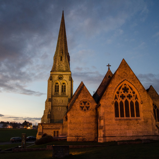 """All Saints Church, Blackheath"" stock image"