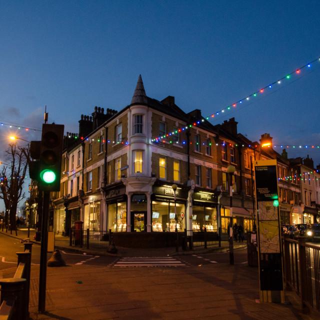 """Blackheath Christmas lights"" stock image"