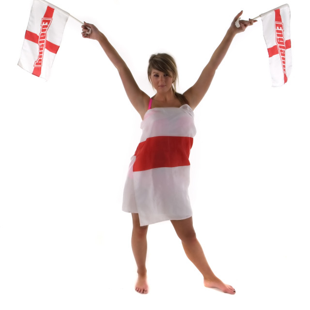 """England Fan 2"" stock image"