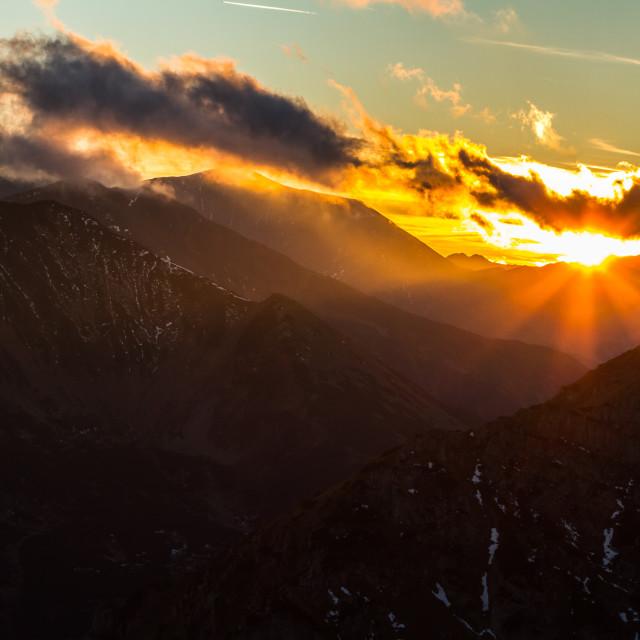 """magic sunset"" stock image"