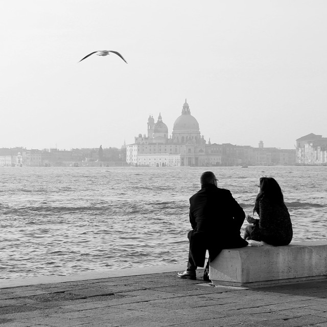 """Love in Venecia"" stock image"