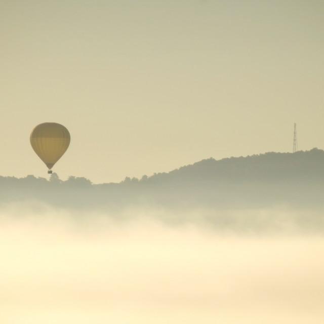 """Dordogne Landscape at Sunrise"" stock image"