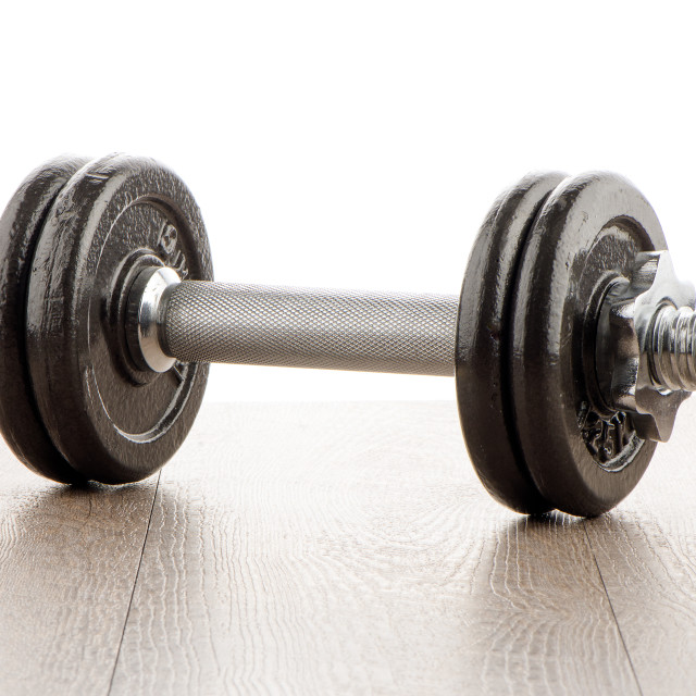 """""""Dumbbell weights"""" stock image"""