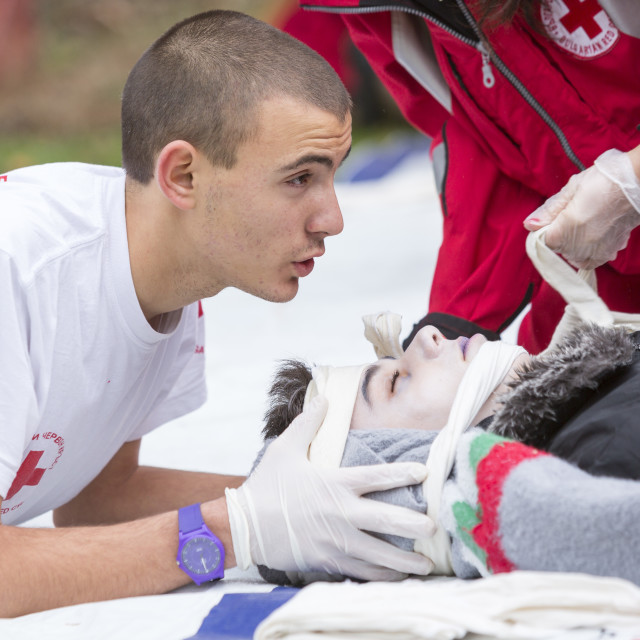 """""""Red Cross Youth"""" stock image"""
