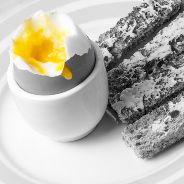 """Egg and Soldiers"" stock image"