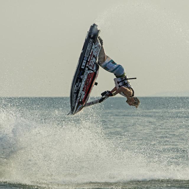 """Lee Stone, Jet Ski Free Style Champion 2015"" stock image"