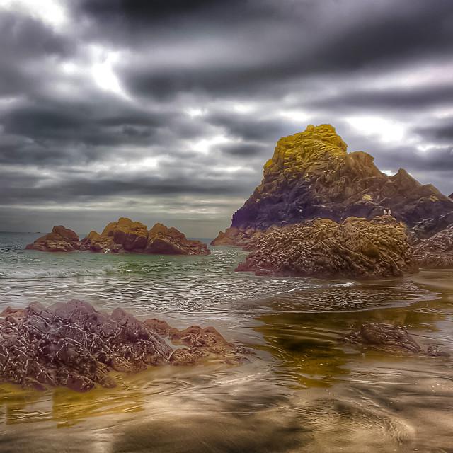 """Kynance Cove - Cornwall"" stock image"