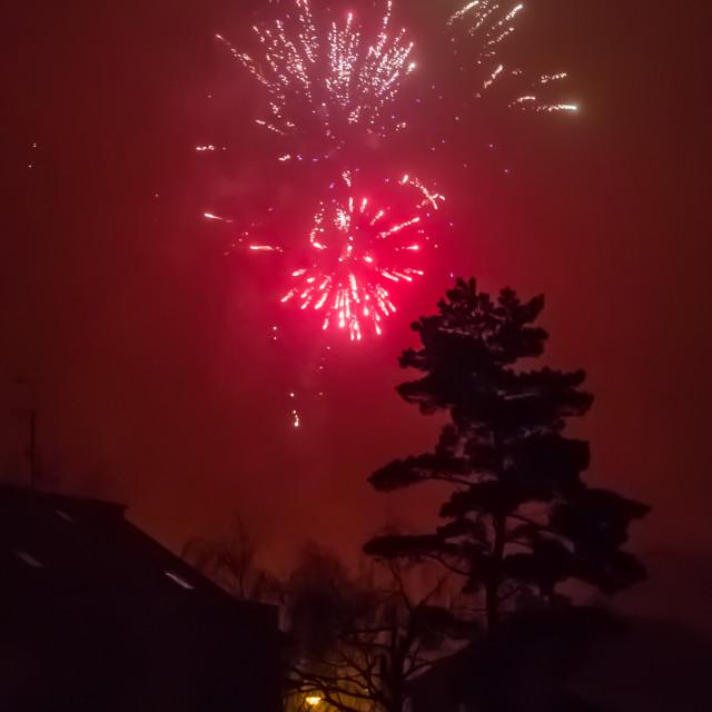 """Foggy New Year"" stock image"