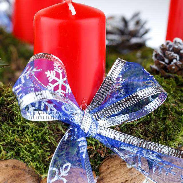 """Advent wreath with candles for the Christmas time"" stock image"