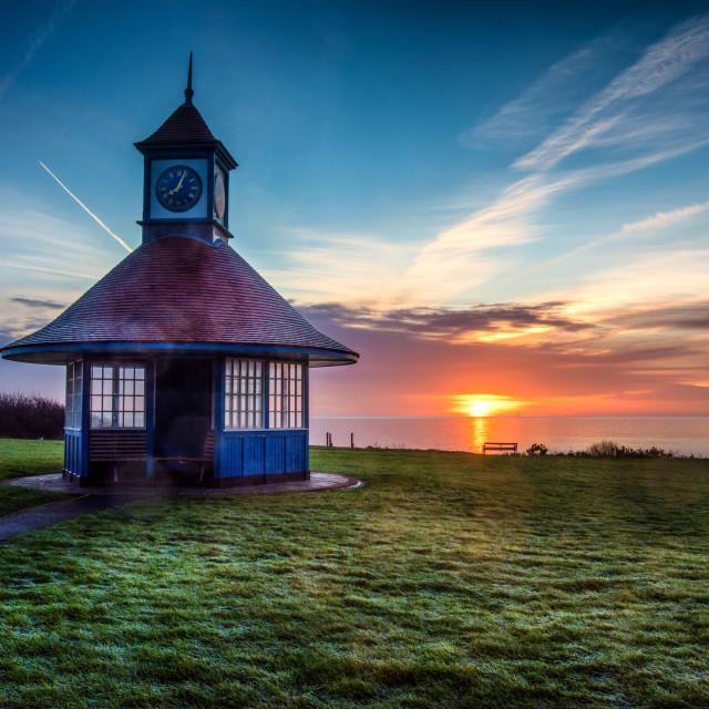 """""""Frinton Sunrise January 1st 2016"""" stock image"""