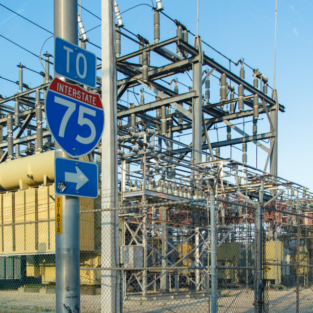 """Electricity substation"" stock image"