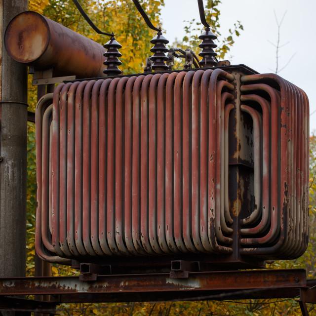 """Electric transformer"" stock image"
