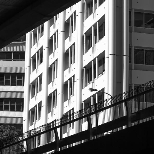 """monochrome city detail"" stock image"