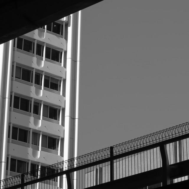 """monochrome urban abstract"" stock image"