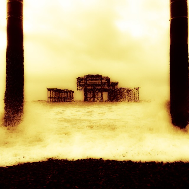 """West Pier, Brighton"" stock image"