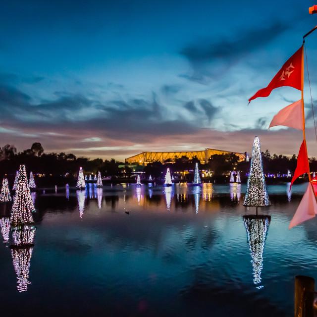 """""""Christmas Tree Lake"""" stock image"""
