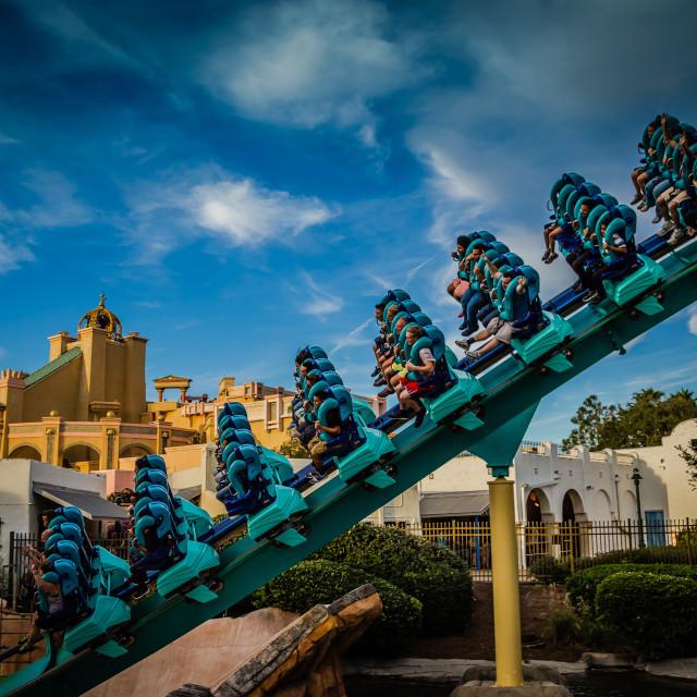 """Roller-coasting away"" stock image"